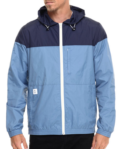 Ur-ID 215641 WESC - Men Blue Marouk Zip - Up Hoodie