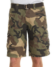Men - Army Stage Ripstop army belted cargo short