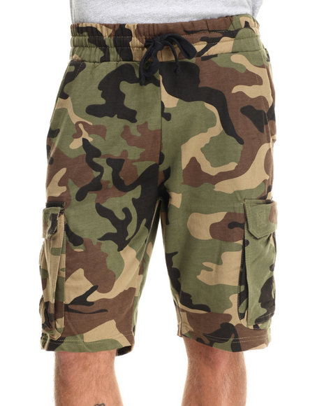 Buyers Picks - Men Camo Camo Knit Cargo Sweatshorts