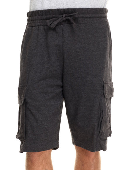 Buyers Picks - Men Charcoal Cargo Sweatshorts - $15.99