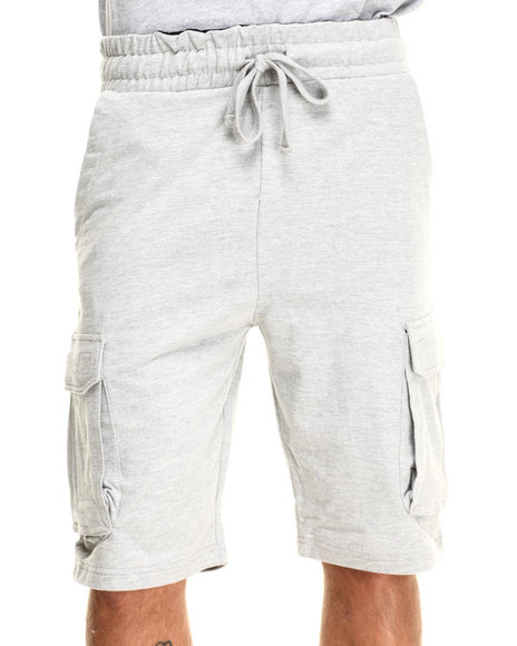 Buyers Picks - Men Grey Cargo Sweatshorts