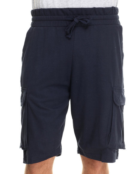 Buyers Picks - Men Navy Cargo Sweatshorts