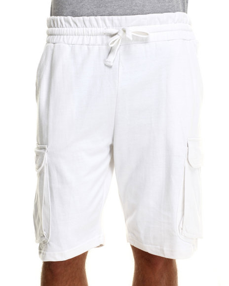 Buyers Picks - Men White Cargo Sweatshorts