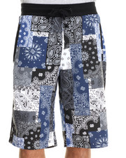 Akademiks - Harris Bandana Patchwork Allover Print Shorts