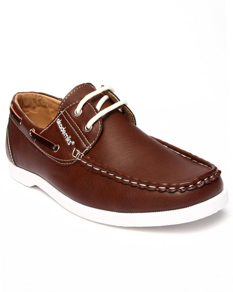 Ur-ID 215591 Akademiks - Men Tan Laced Boat Shoe