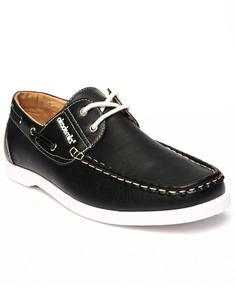 Ur-ID 215601 Akademiks - Men Black Laced Boat Shoe