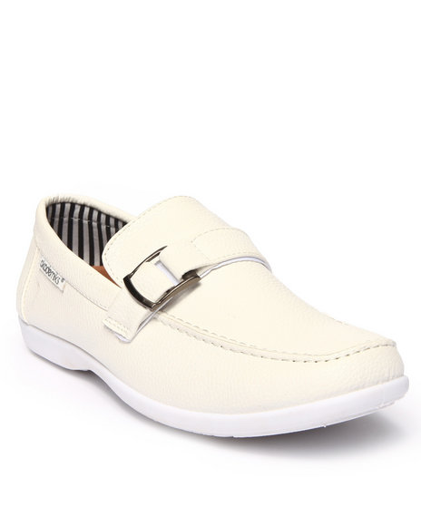 Ur-ID 215662 Akademiks - Men White Classic Side Buckle Shoe by Akademiks