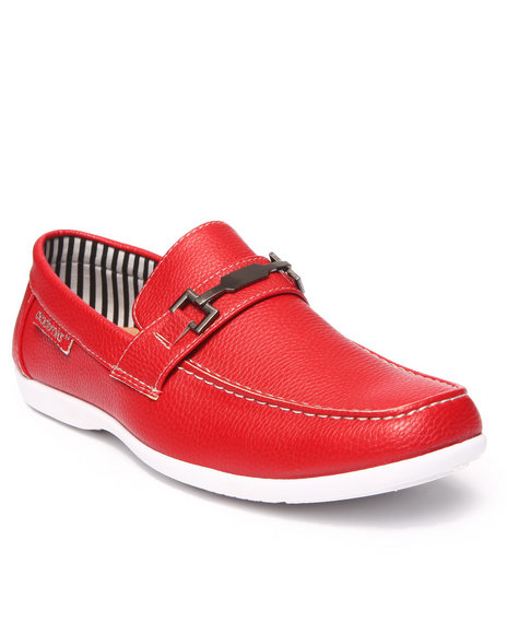 Ur-ID 215667 Akademiks - Men Red Penny Buckle Dress Shoe