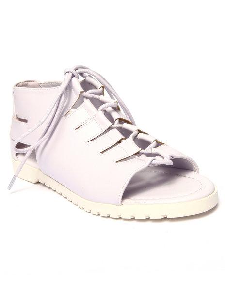 Ur-ID 215696 Fashion Lab - Women Purple Polly Lace Up Open Toe Flat Sandal