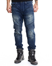 Denim - Rocco Distressed Moto Jean