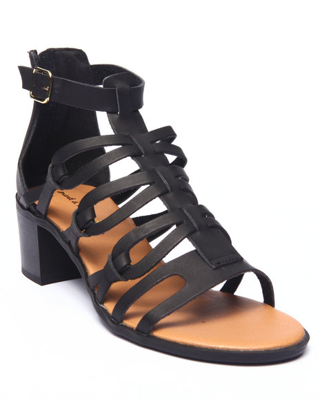 Ur-ID 215682 Fashion Lab - Women Black Cecilla Open Toe Gladiator Heel Sandal