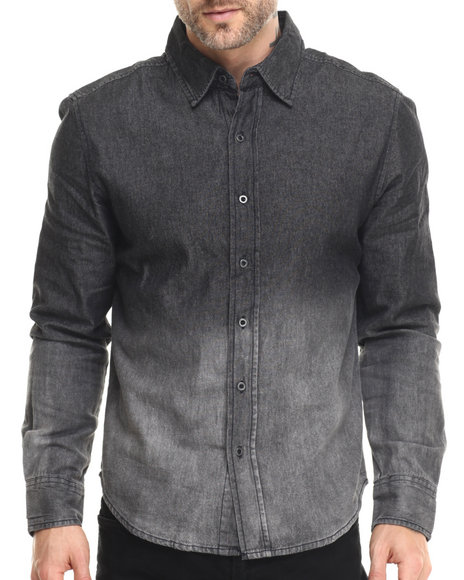 Buyers Picks - Men Black Deep Dye L/S Denim Shirt