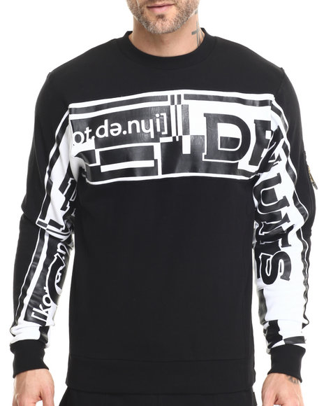 Cote De Nuits - Men Black Cote Script Sweatshirt