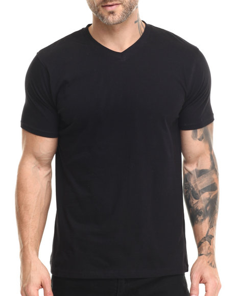 Buyers Picks - Men Black Premium V - Neck S/S Tee - $14.00