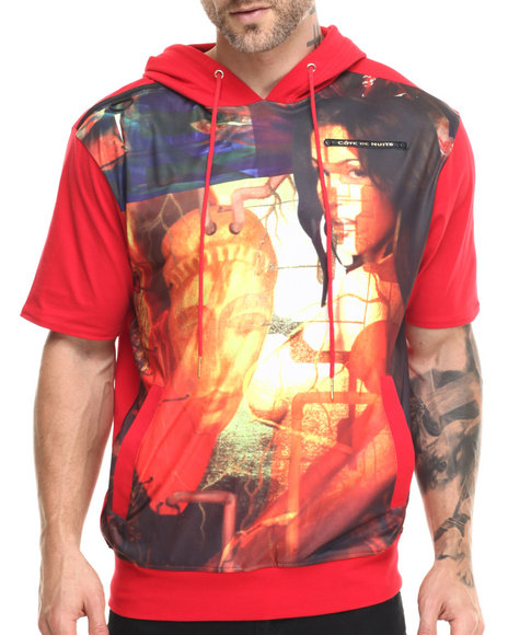Cote De Nuits - Men Red S/ Sublimation Hoodie