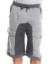 Men - Premium Fleece Cargo Shorts