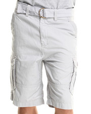 Men - Ripstop Belted Double Pocket Cargo Shorts