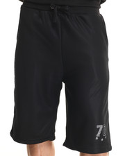 Men - Fleece & Mesh Trim Shorts