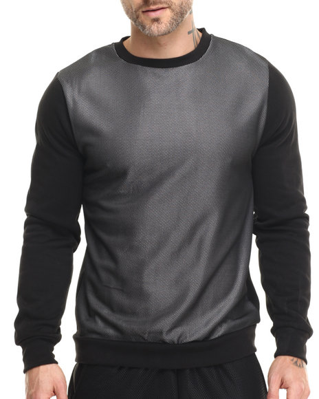 Buyers Picks - Men Black Mesh Front L/S Shirt