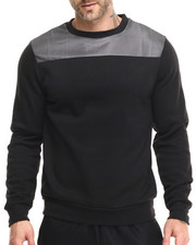 Men - Mesh Shoulder Crewneck sweatshirt