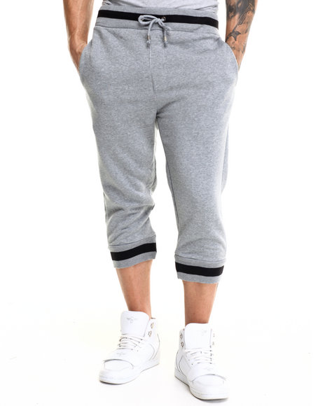 Buyers Picks - Men Grey 2-Tone Fleece Jogger Shorts