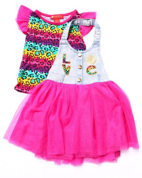 Apple Bottoms - Girls Pink 2 Pc Skirtall Set (2T-4T)