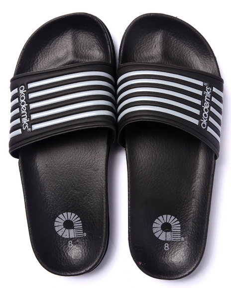 Akademiks - Men Grey Akademik Sport Slide Sandals - $8.99