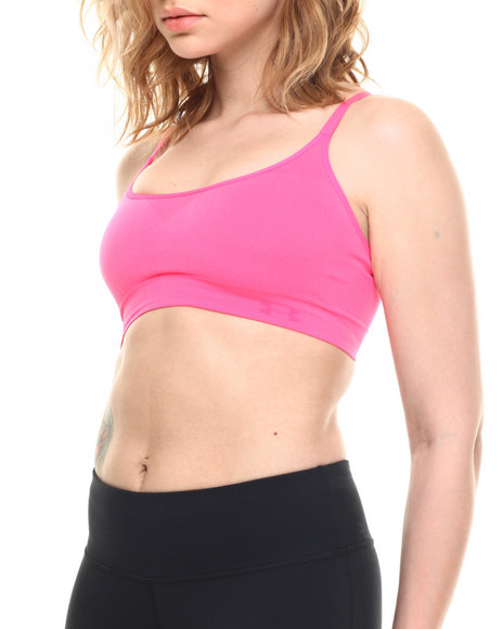 Under Armour - Women Pink Ua Essential Seamless Mid-Impact Sports Bra
