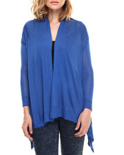 Tops - L/s Asymmetrical Pocketed Cardi