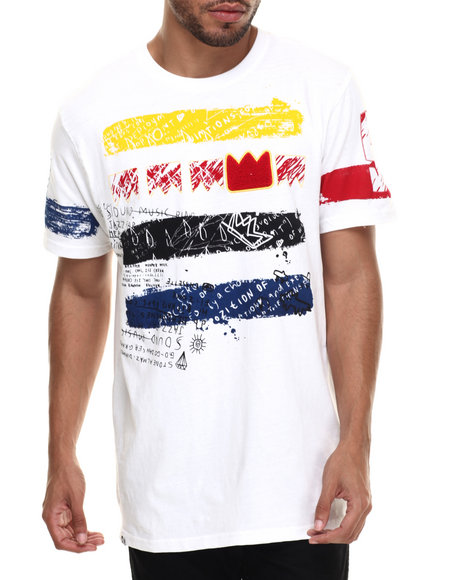 Akademiks - Men White Emmet Chenille Patch S/S Tee