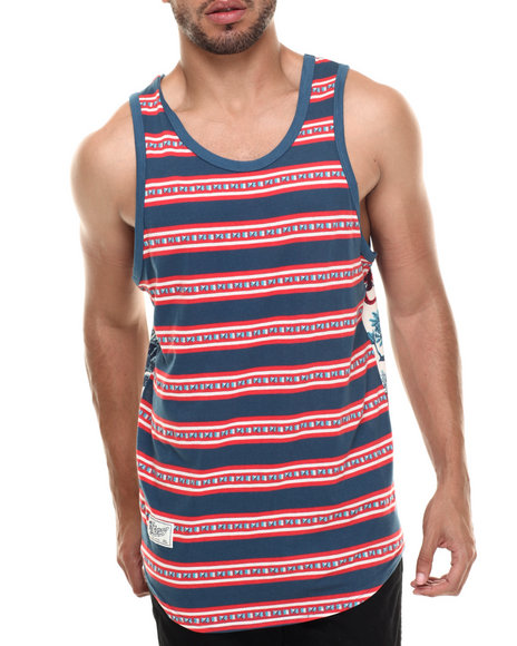 Lrg - Men Blue Mozambeezy Tank