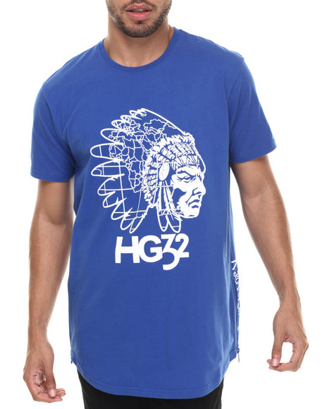 Hustle Gang - Men Blue Zenith S/S Knit Tee