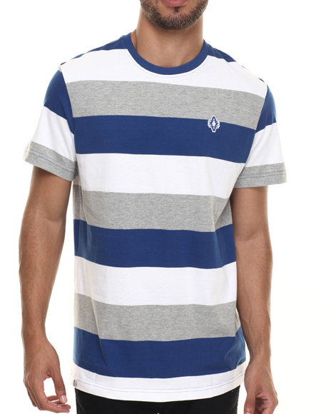 Akademiks - Men Blue Andes Stripe S/S Tee