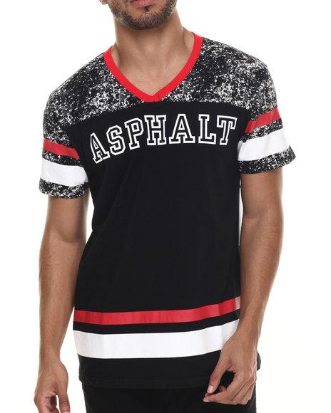 Ur-ID 215824 Asphalt Yacht Club - Men Black Acid Wash Football Tee