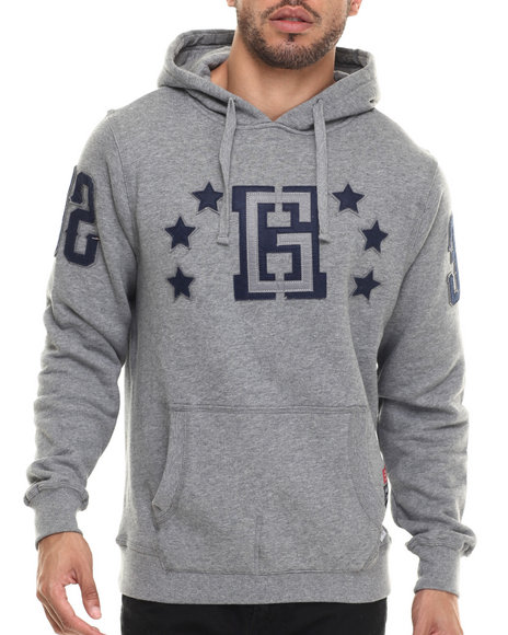 Hustle Gang - Men Grey Pro Pullover Hoodie