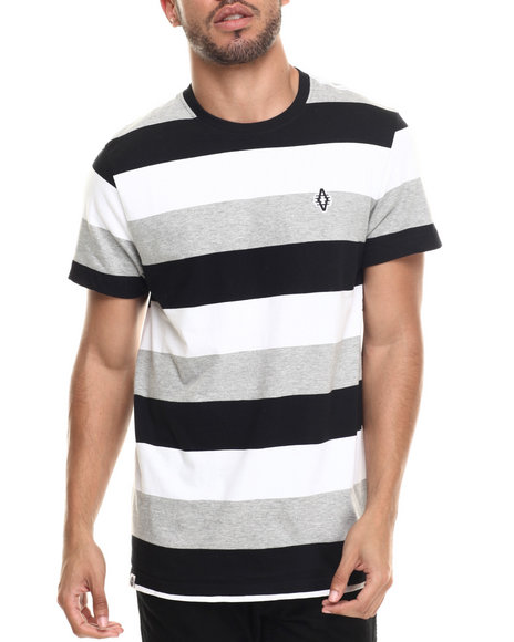 Akademiks - Men Black Andes Stripe S/S Tee