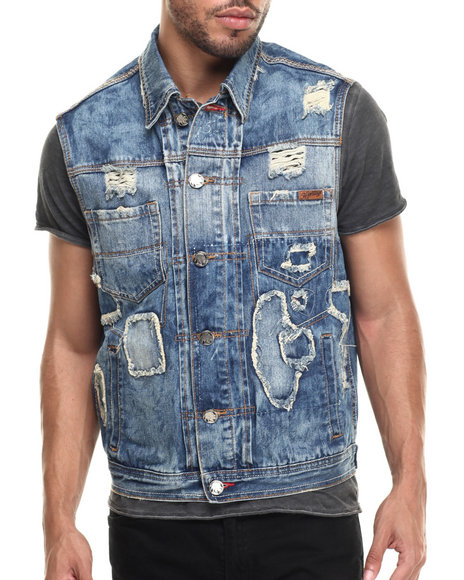 Men Denim Vest