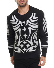 Pullover Sweatshirts - Tribal Reflective Sweatshirt