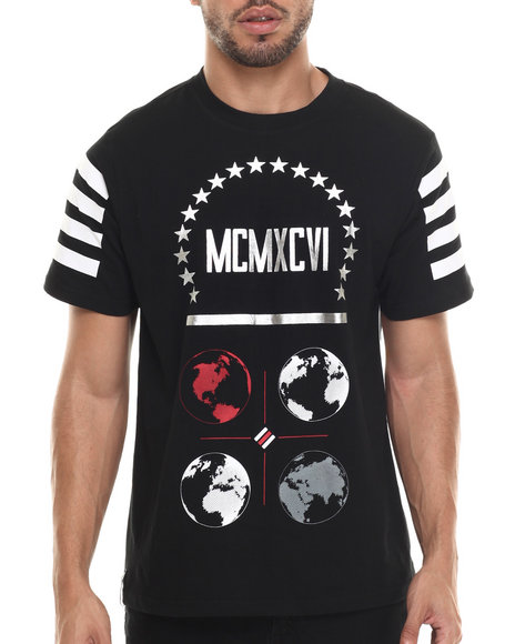 Enyce - Men Black Global T-Shirt