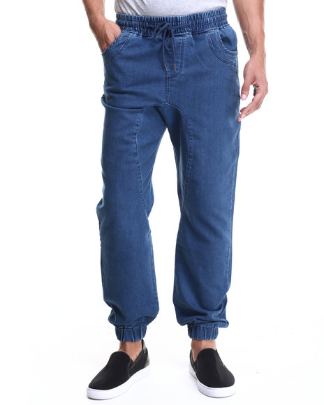 Waimea - Men Indigo Knit Denim Jogger