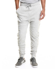 Men - Solid Seam Jogger w Zip Detail