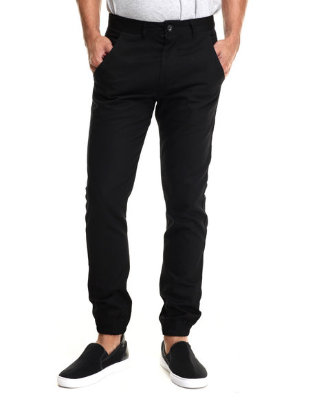 Ur-ID 215888 Waimea - Men Black Solid Woven Jogger