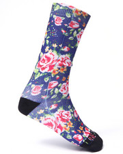 Buyers Picks - Blue Floral Crew socks