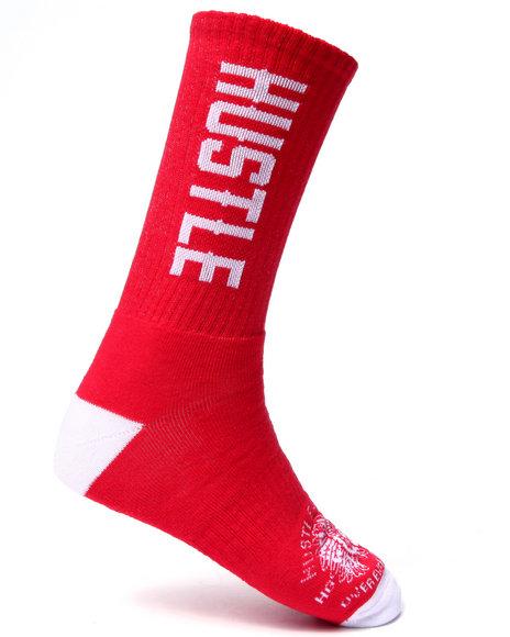 Hustle Gang Men Hustle Socks Red
