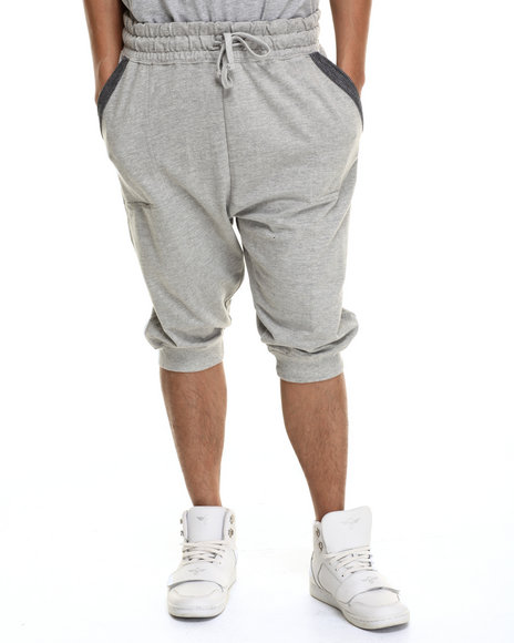Buyers Picks - Men Grey Detail Jogger Shorts