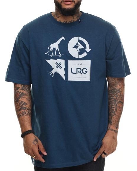 Lrg - Men Blue Rc Logo Mash Up T-Shirt (B&T)