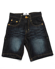 Bottoms - EMBROIDERED POCKET SHORTS (4-7)