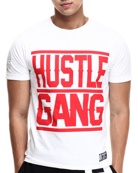 Hustle Gang - Men Red,White Big Gang Tee