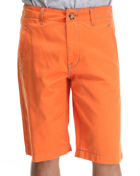 Lrg - Men Orange Camoros Chino Short - $38.99