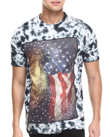 Buyers Picks - Men Black American Gangster Acid Wash S/S Tee